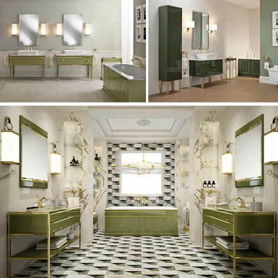 Oasis мебель с зелеными тонами