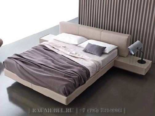 Кровать с подвесными тумбами TUTTUNO - Caccaro